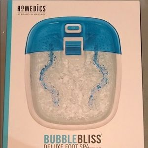 Other - Homedics Bubblebliss Deluxe Foot Spa - New